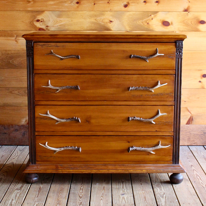 Pine Dresser with Resin Antler Handles