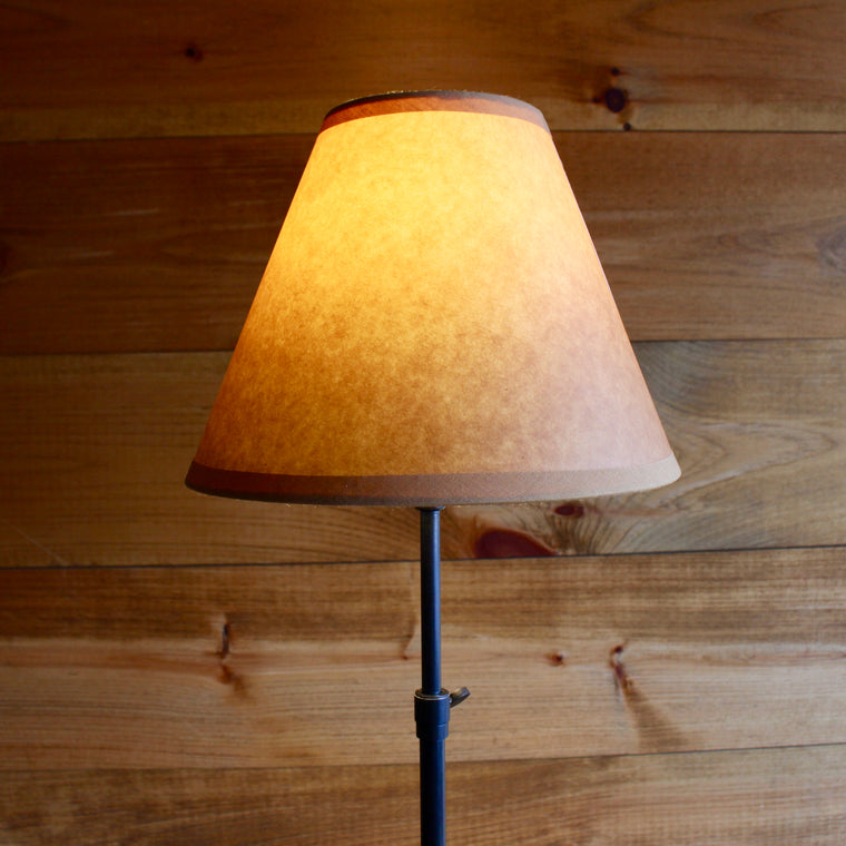 adjustable table lamp with Kraft shade