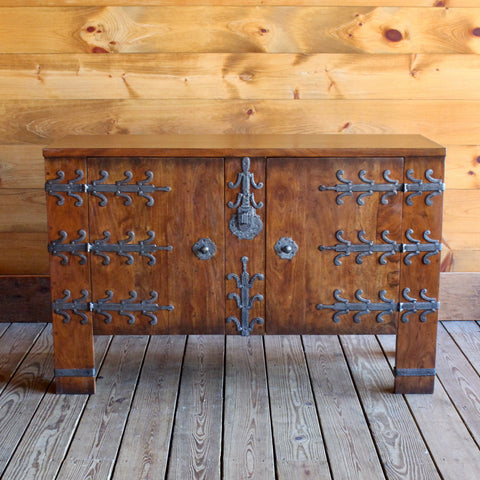 Walnut Cabinet with Old Iron Hardware