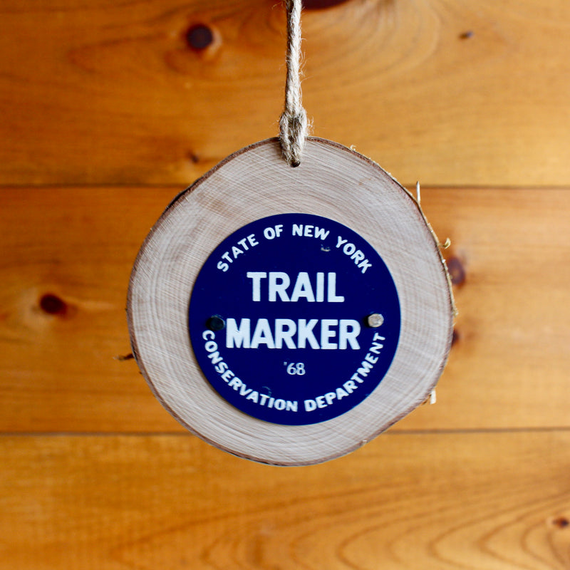 State Of New York Trail Marker Hiking Trail Sign