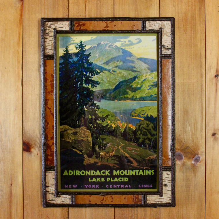 Adirondack Mountains Poster in Dartbrook Birch Frame