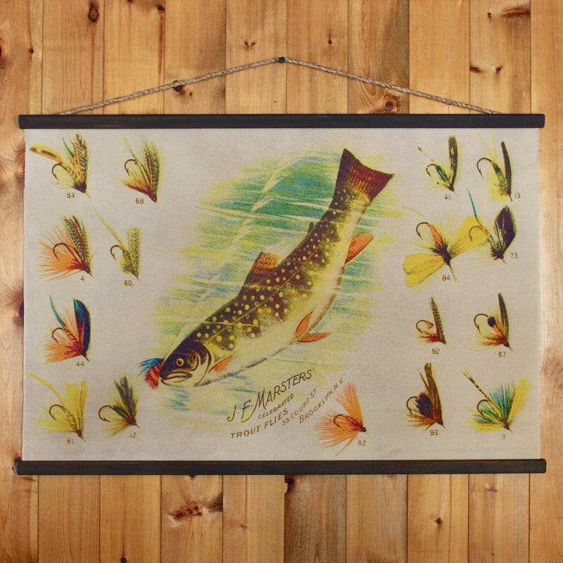 Fly fishing wall canvas