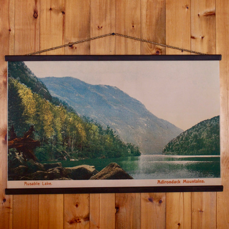 Ausable Lake Wall Chart
