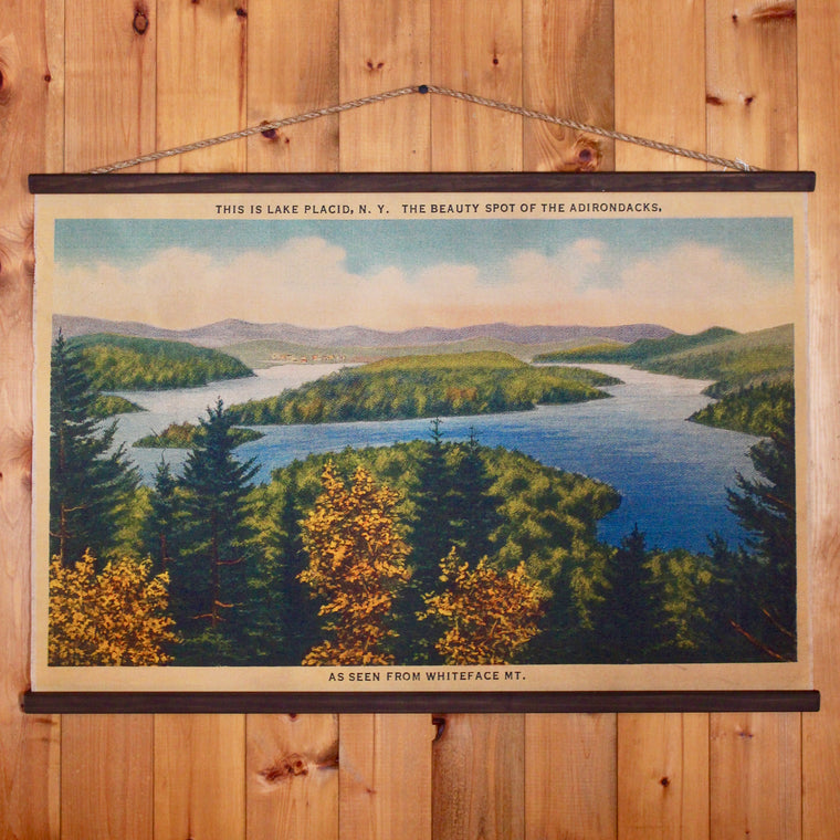 Lake Placid From Whiteface Wall Chart