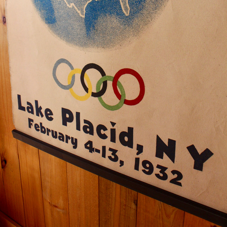 1932 lake placid winter olympic wall canvas