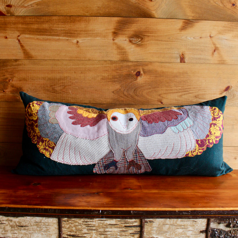 Textile Forest Creature Pillow