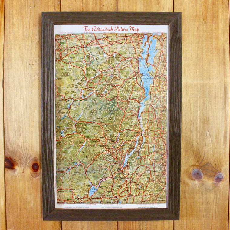 Vintage 1930 ADK Picture Map