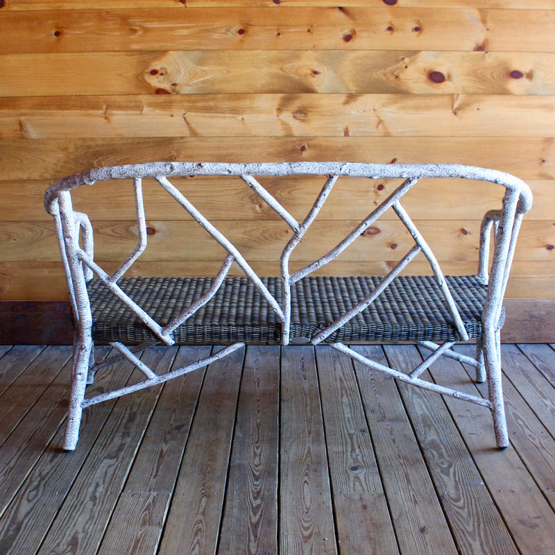 All Weather Birch Aluminum Love Seat