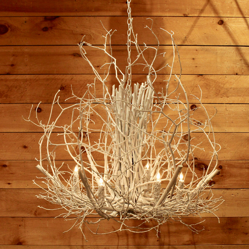 Frosted Gothics Twig Chandelier