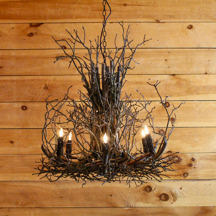 rustic gothic twig chadelier