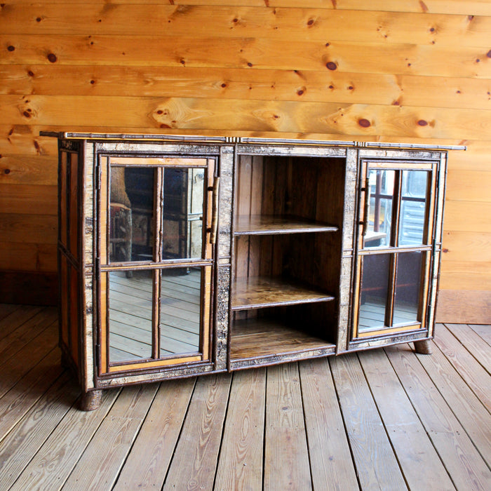 Rustic Birch Entertainment Cabinet