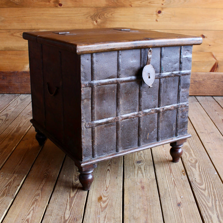 hand crafted solid wood chest