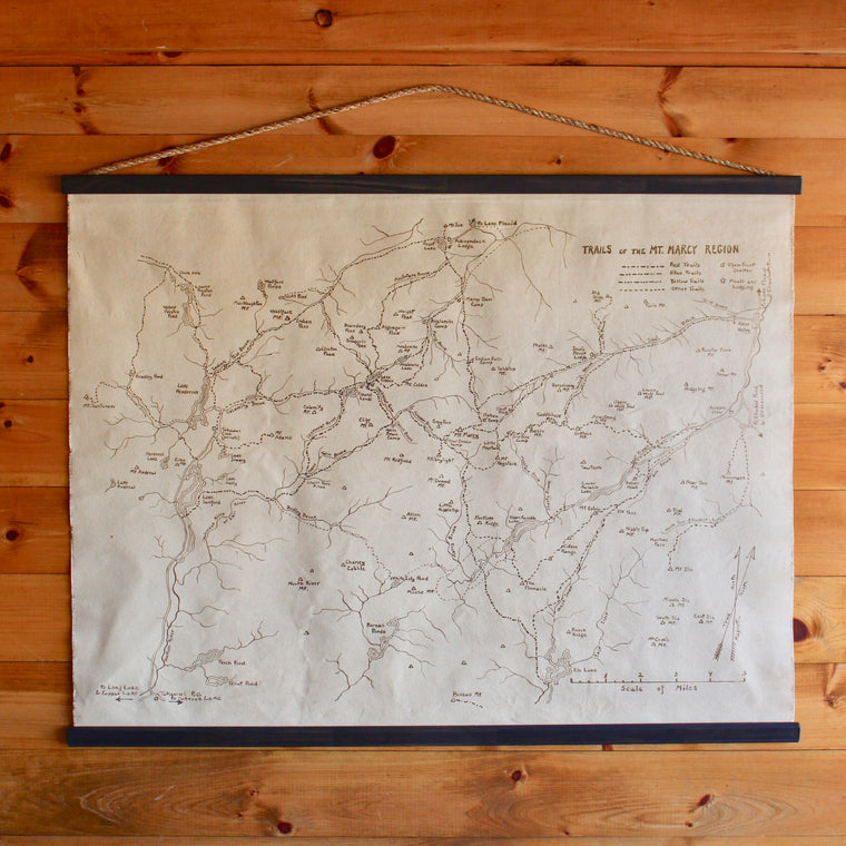 Mt. Marcy Trail Map Wall Chart