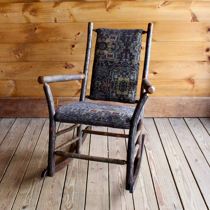 Winslow Hickory Rocker with Upholstered Seat & Back