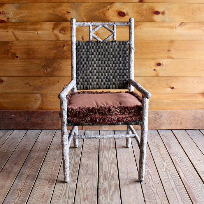 All Weather Birch Metal Dining Arm Chair