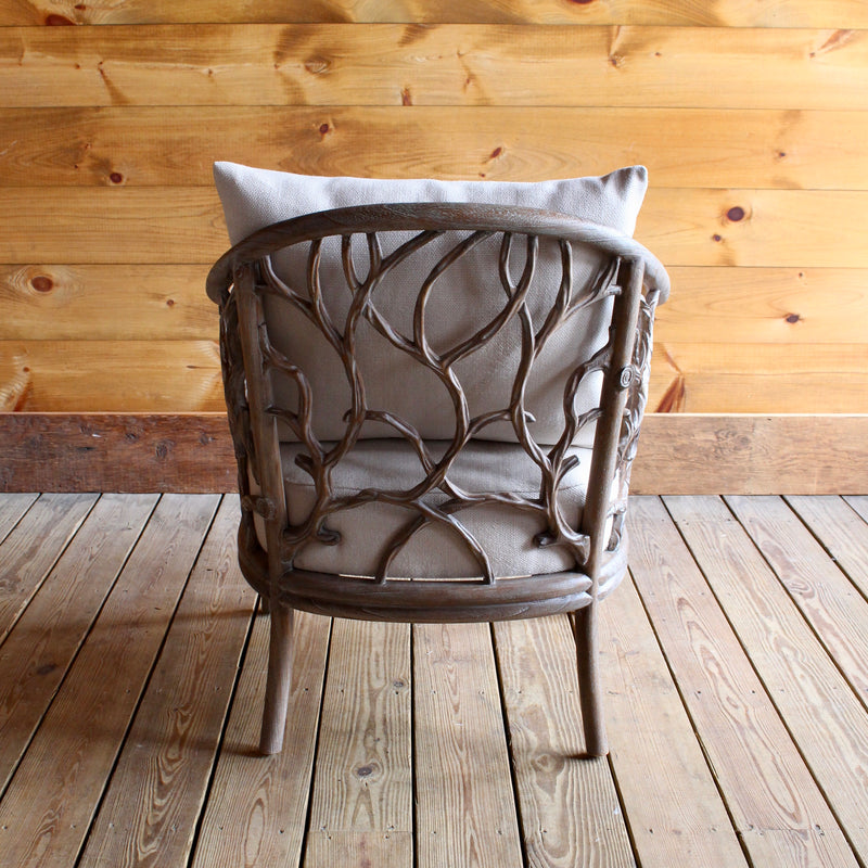 Rustic Faux Driftwood Twig Arm Chair