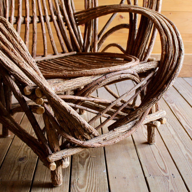 Rustic Adirondack Bentwood Willow Chair