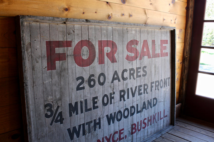 Vintage NYC River Property Sign