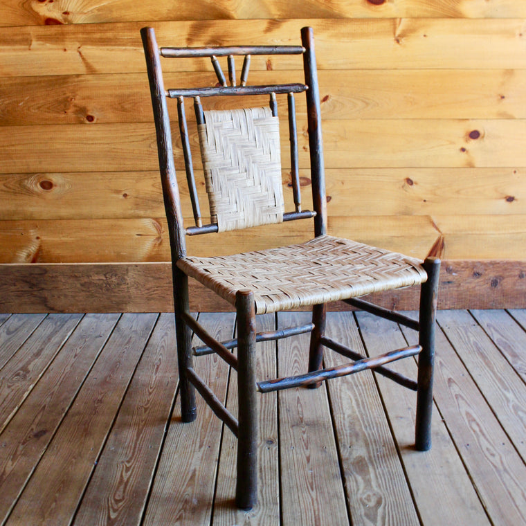 3-Finger Hickory and Splint Chair