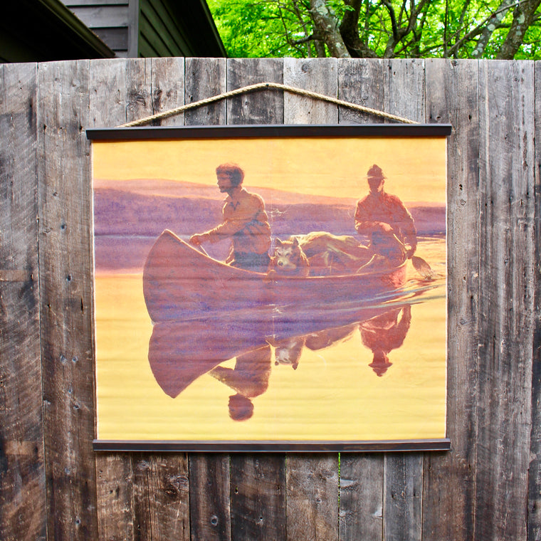 Canoe Canvas Wall Chart