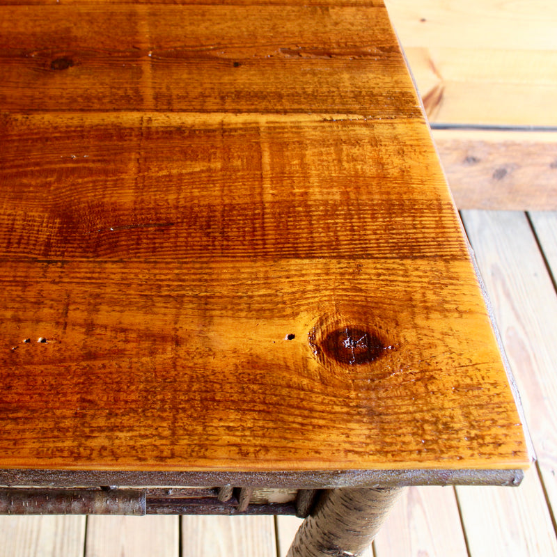 Rustic Side Table with Barnwood Top