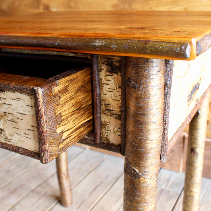 Rustic Birch and Barnwood Nightstand
