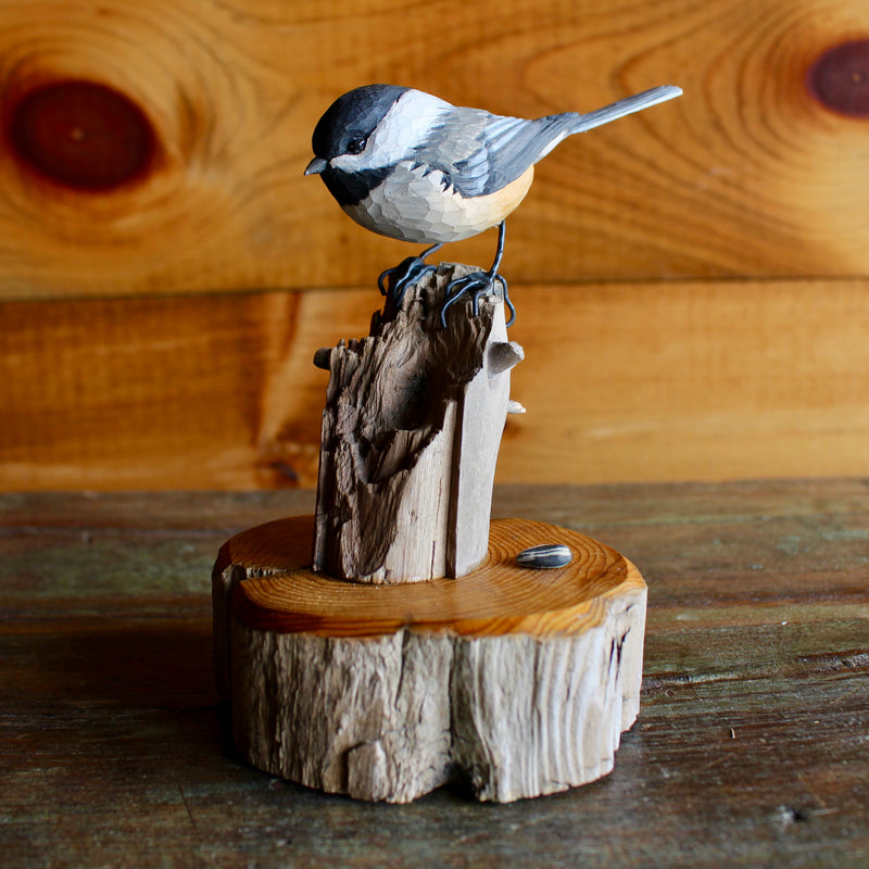 Hand-carved Chickadee by Alan Aardsma
