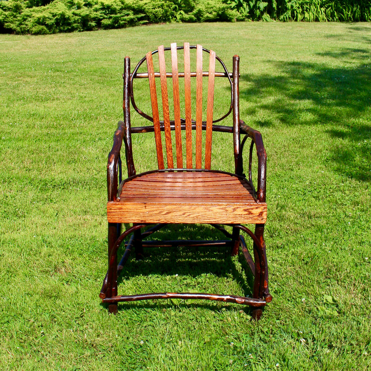 Adirondack Rustic Hickory and Oak Armchair