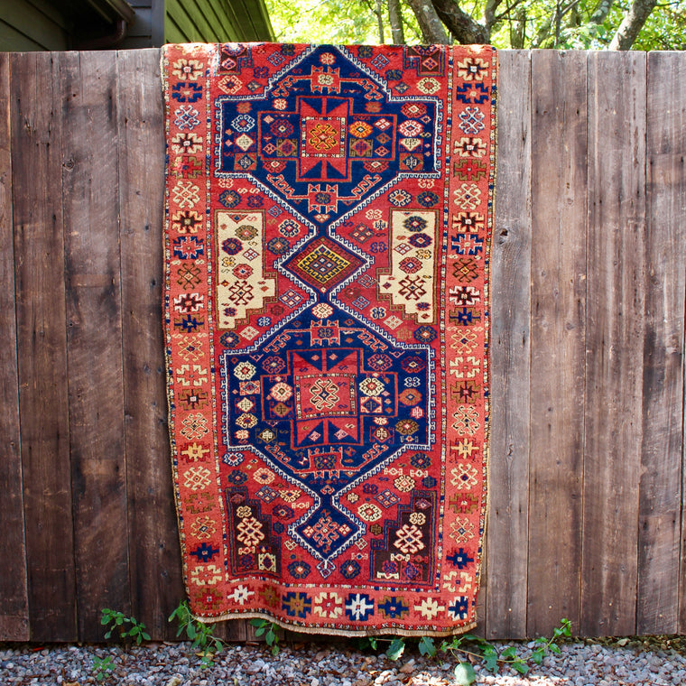 3'6 X 7'7 Hand Knotted Oriental Style Wool Rug Runner