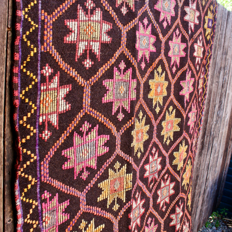 Turkish Cicim Kilim Wool Rug