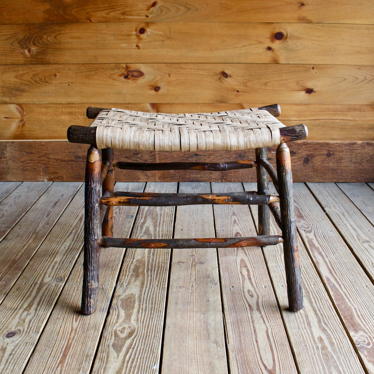 Camp Stool in Hickory and Splint