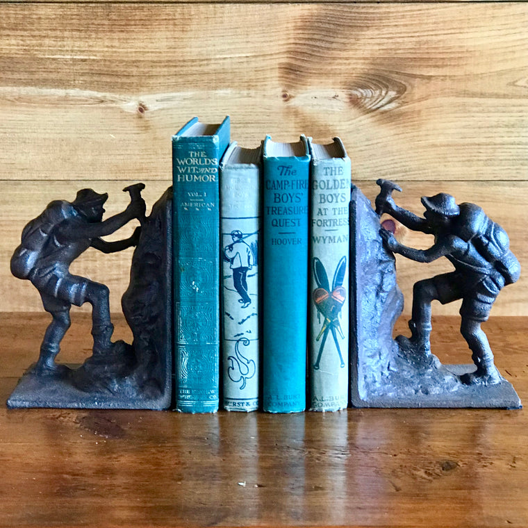 Iron Climber Bookends | Dartbrook Signature Collection