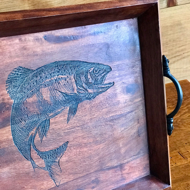 Trout Wooden Tray