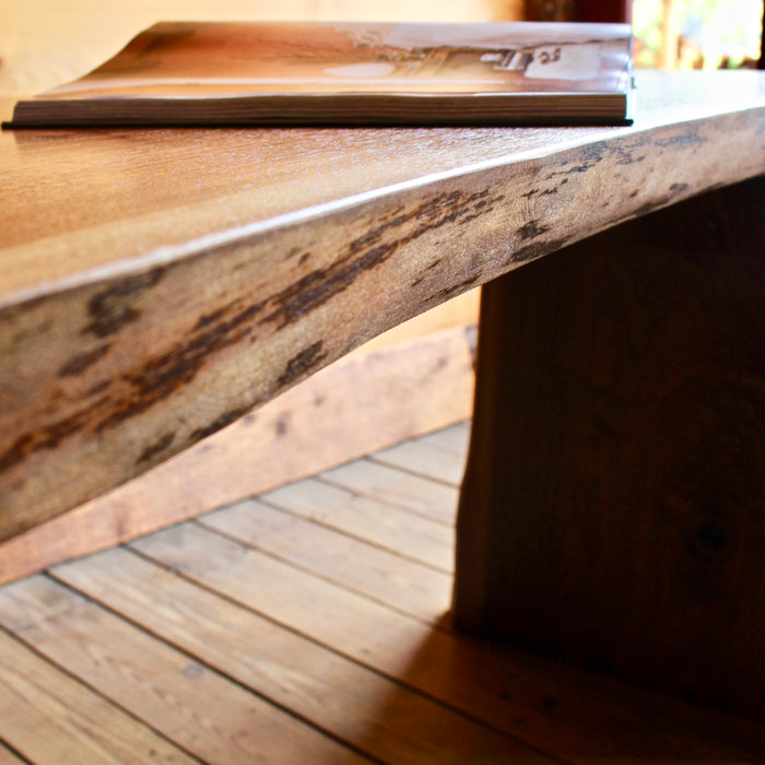 Solid Walnut Live Edge Desk Made in the USA