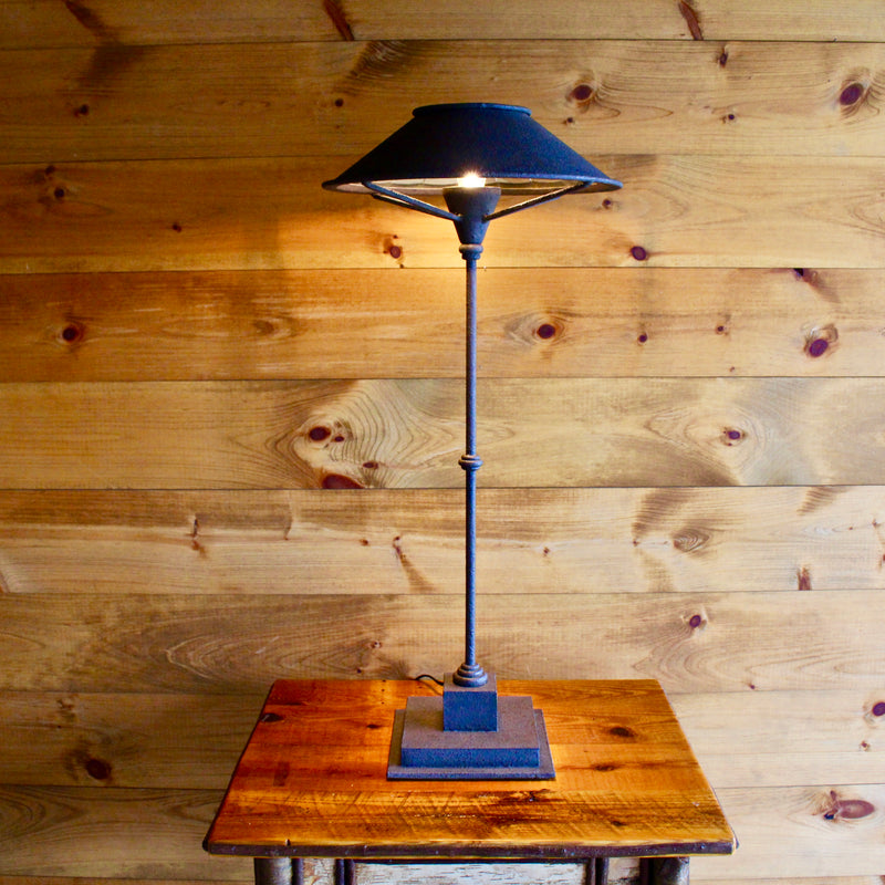 Wrought Iron Manuscript Table Lamp