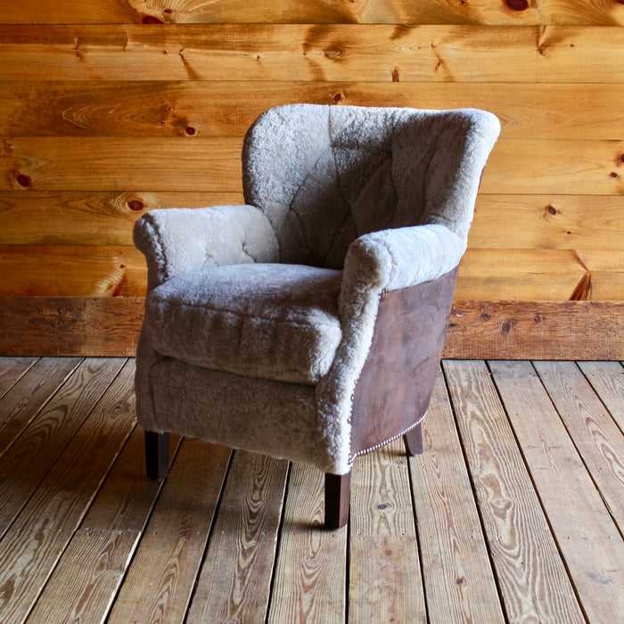 Shearling & Leather Lee Industries Club Chair