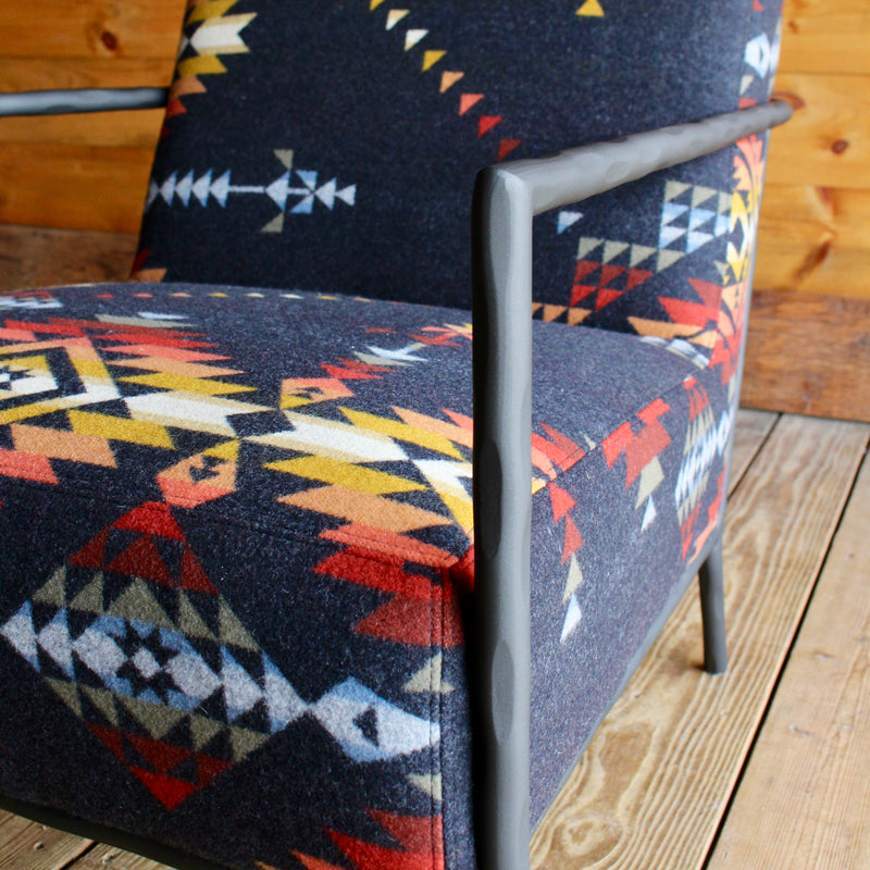 Pendleton Blanket Metal Side Chair in Pueblo Dwelling