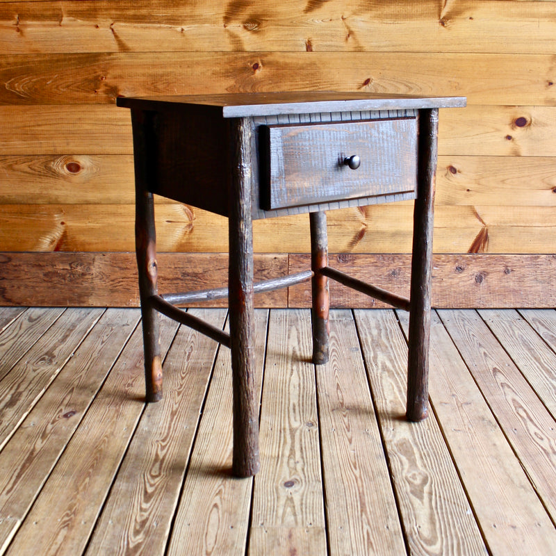 Hickory One Drawer Stand