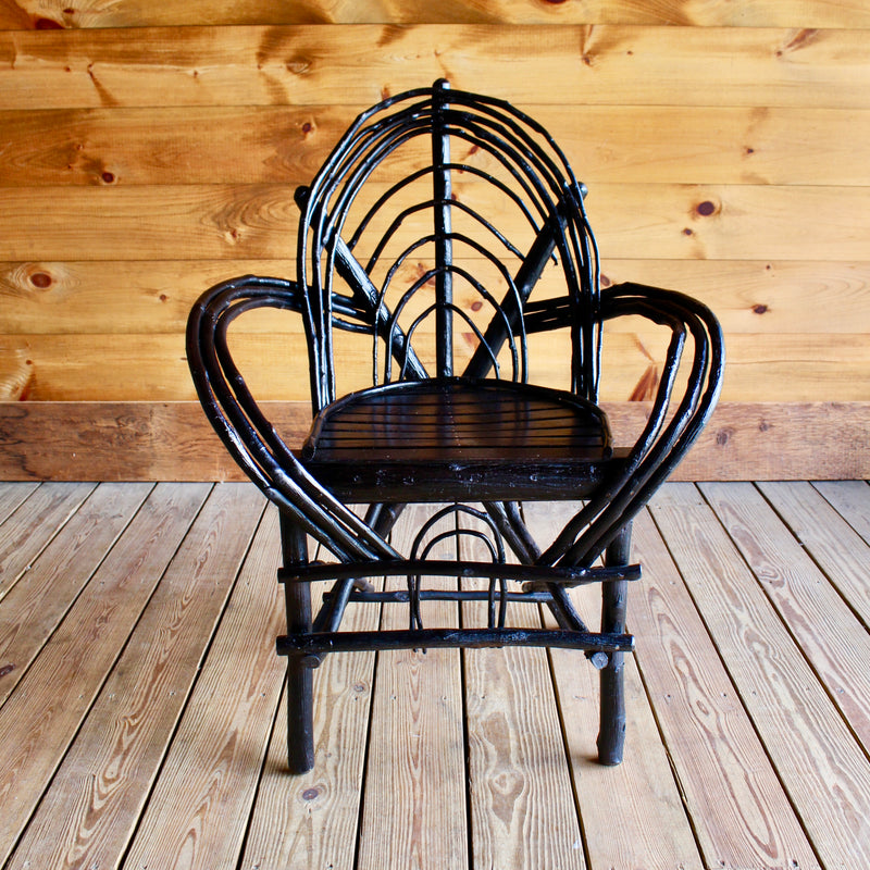 Adirondack Rustic Steam Bent Hickory Arm Chair