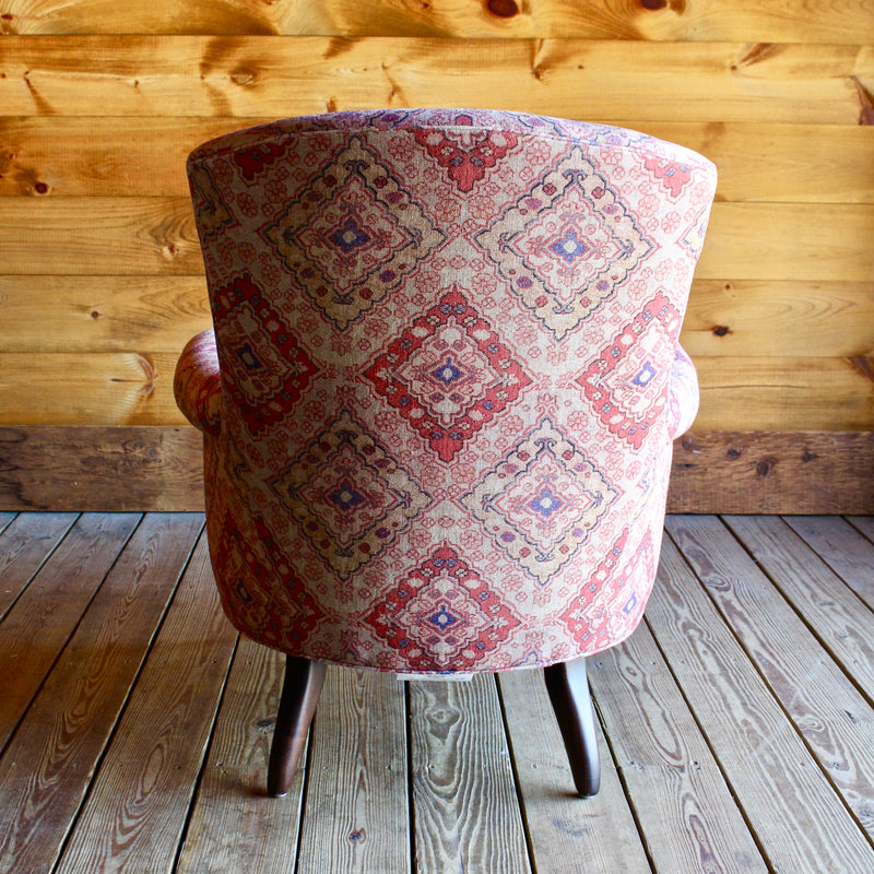 Pink Upholstered Arm Chair Lee Industries