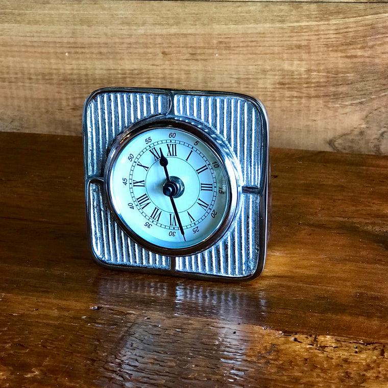 Desk Clock in Nickel Finish