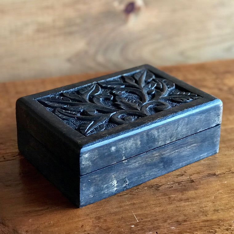 Carved Wood Box