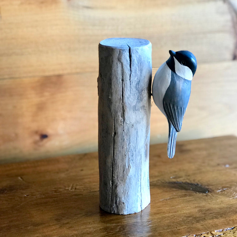 Chickadee Carving