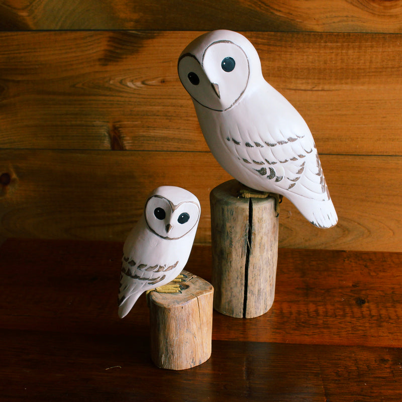 Baby Barn Owl Carving
