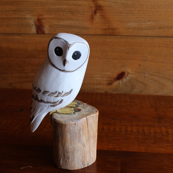 Barn Owl Carving - Baby