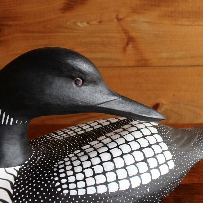 Sustainable Hand Carved and Painted Common Loon