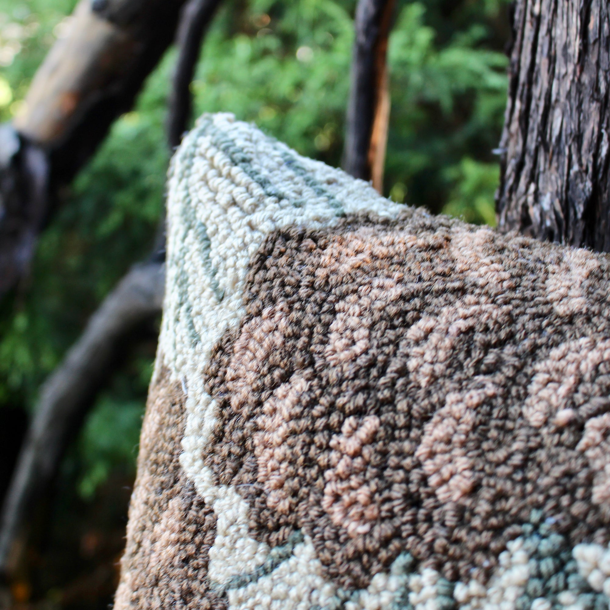 Hooked Pine Cone Pillow 18\