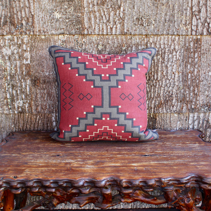 navajo design linen pillow