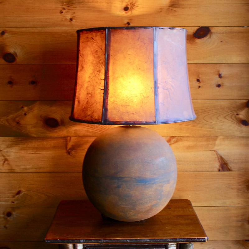 Europa Table Lamp with Rawhide Shade