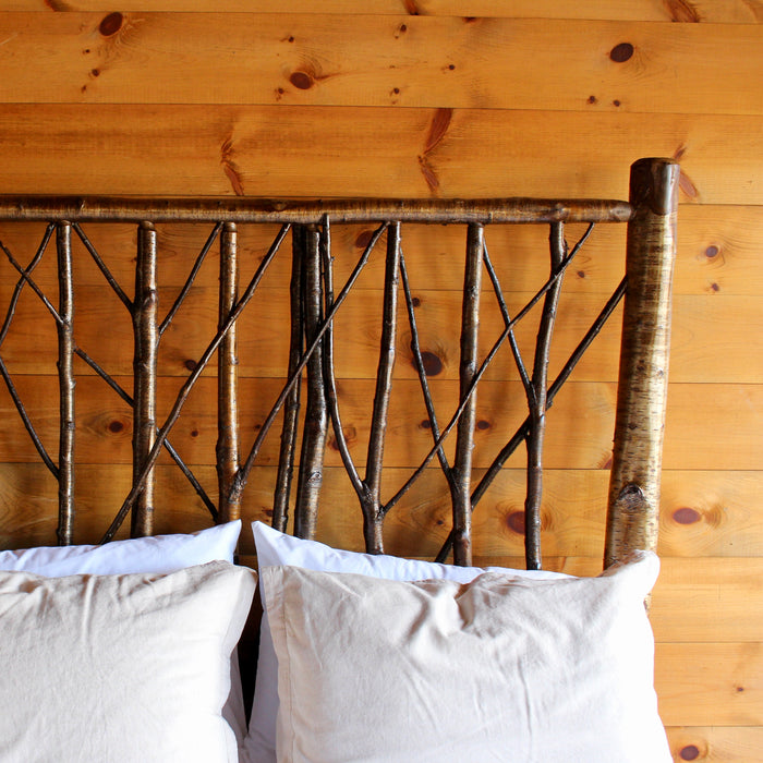 Rustic Adirondack Yellow Birch Brush Bed